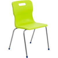 Titan 4 Leg Classroom Chair Size 6 460mm Seat Height (Ages: 14+ Years) Lime T16-L - 5 Year Guarantee