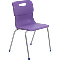Titan 4 Leg Classroom Chair Size 6 460mm Seat Height (Ages: 14+ Years) Purple T16-P - 5 Year Guarantee