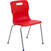 Titan 4 Leg Classroom Chair Size 6 460mm Seat Height (Ages: 14+ Years) Red T16-R - 5 Year Guarantee