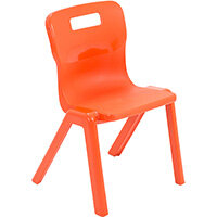 Titan One Piece Classroom Chair Size 2 310mm Seat Height (Ages: 4-6 Years) Orange T2-O - 20 Year Guarantee