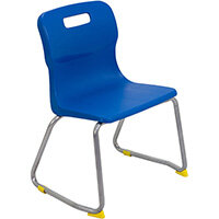 Titan Skid Base Classroom Chair Size 3 350mm Seat Height (Ages: 6-8 Years) Blue T23-B - 5 Year Guarantee