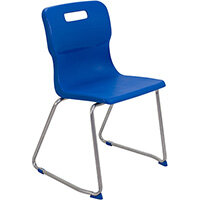 Titan Skid Base Classroom Chair Size 6 460mm Seat Height (Ages: 14+ Years) Blue T26-B - 5 Year Guarantee
