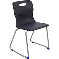 Titan Skid Base Classroom Chair Size 6 460mm Seat Height (Ages: 14+ Years) Charcoal T26-C - 5 Year Guarantee