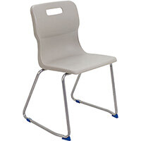 Titan Skid Base Classroom Chair Size 6 460mm Seat Height (Ages: 14+ Years) Grey T26-GR - 5 Year Guarantee