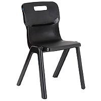 Titan One Piece School Chair Size 3 350mm Black Pack of 10