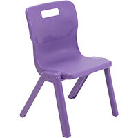 Titan One Piece Classroom Chair Size 3 350mm Seat Height (Ages: 6-8 Years) Purple T3-P - 20 Year Guarantee