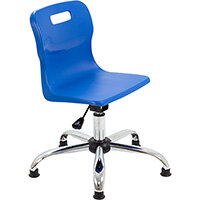 Titan Swivel Junior Classroom Chair with Glides 365-435mm Seat Height (Ages: 6-11 Years) Blue T30-BG - 5 Year Guarantee