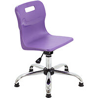Titan Swivel Junior Classroom Chair with Glides 365-435mm Seat Height (Ages: 6-11 Years) Purple T30-PG - 5 Year Guarantee