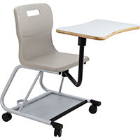 Titan Teach Chair with Writing Tablet 470mm Seat Height (Ages: 14+ Years) Grey T300-G - 5 Year Guarantee