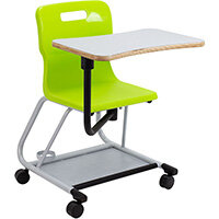Titan Teach Chair with Writing Tablet 470mm Seat Height (Ages: 14+ Years) Lime T300-L - 5 Year Guarantee