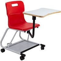 Titan Teach Chair with Writing Tablet 470mm Seat Height (Ages: 14+ Years) Red T300-R - 5 Year Guarantee