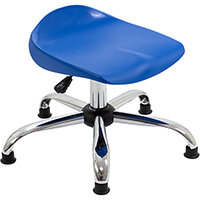 Titan Swivel Junior Classroom Stool with Glides 405-475mm Seat Height (Ages: 6-11 Years) Blue T32-BG - 5 Year Guarantee
