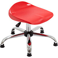 Titan Swivel Junior Classroom Stool with Glides 405-475mm Seat Height (Ages: 6-11 Years) Red T32-RG - 5 Year Guarantee