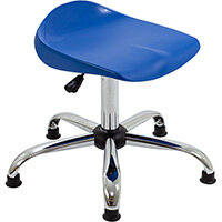 Titan Swivel Senior Classroom Stool with Glides 465-555mm Seat Height (Ages: 11+ Years) Blue T33-BG - 5 Year Guarantee