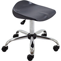 Titan Swivel Senior Classroom Stool with Castors 465-555mm Seat Height (Ages: 11+ Years) Charcoal T33-C - 5 Year Guarantee