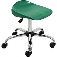 Titan Swivel Senior Classroom Stool with Castors 465-555mm Seat Height (Ages: 11+ Years) Green T33-GN - 5 Year Guarantee