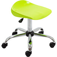 Titan Swivel Senior Classroom Stool with Castors 465-555mm Seat Height (Ages: 11+ Years) Lime T33-L - 5 Year Guarantee