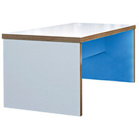 Frovi BLOCK Large Colour Panel Bench Table With 2 Tone Laminate Colours W2200xD800xH750mm
