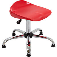 Titan Swivel Senior Classroom Stool with Glides 465-555mm Seat Height (Ages: 11+ Years) Red T33-RG - 5 Year Guarantee