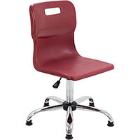 Titan Swivel Senior Classroom Chair with Glides 435-525mm Seat Height (Ages: 11+ Years) Burgundy T35-BUG - 5 Year Guarantee
