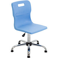 Titan Swivel Senior Classroom Chair with Glides 435-525mm Seat Height (Ages: 11+ Years) Sky Blue T35-CBG - 5 Year Guarantee