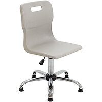 Titan Swivel Senior Classroom Chair with Glides 435-525mm Seat Height (Ages: 11+ Years) Grey T35-GRG - 5 Year Guarantee