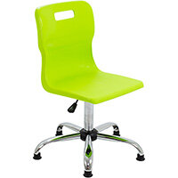 Titan Swivel Senior Classroom Chair with Glides 435-525mm Seat Height (Ages: 11+ Years) Lime T35-LG - 5 Year Guarantee