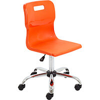 Titan Swivel Senior Classroom Chair with Castors 435-525mm Seat Height (Ages: 11+ Years) Orange T35-O - 5 Year Guarantee