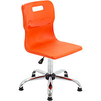 Titan Swivel Senior Classroom Chair with Glides 435-525mm Seat Height (Ages: 11+ Years) Orange T35-OG - 5 Year Guarantee