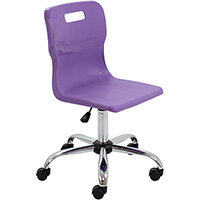 Titan Swivel Senior Classroom Chair with Castors 435-525mm Seat Height (Ages: 11+ Years) Purple T35-P - 5 Year Guarantee