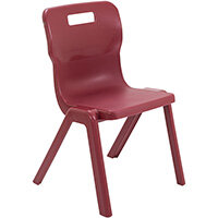 Titan One Piece Classroom Chair Size 5 430mm Seat Height (Ages: 11-14 Years) Burgundy T5-BU - 20 Year Guarantee