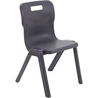 Titan One Piece Classroom Chair Size 5 430mm Seat Height (Ages: 11-14 Years) Charcoal T5-C - 20 Year Guarantee
