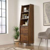 Hampstead Park Narrow Bookcase W500xD396xH1788mm Grand Walnut Finish