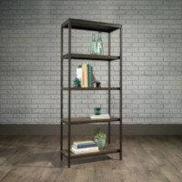 Industrial Style 4 Shelf Bookcase W569xD295xH1442mm Smoked Oak Finish