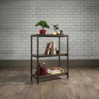 Industrial Style 2 Shelf Bookcase W569xD292xH774mm Smoked Oak Finish