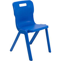 Titan One Piece Classroom Chair Size 6 460mm Seat Height (Ages: 14+ Years) Blue T6-B - 20 Year Guarantee