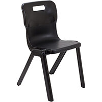 Titan One Piece Classroom Chair Size 6 460mm Seat Height (Ages: 14+ Years) Black T6-BK - 20 Year Guarantee