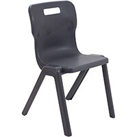 Titan One Piece Classroom Chair Size 6 460mm Seat Height (Ages: 14+ Years) Charcoal T6-C - 20 Year Guarantee