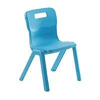 Titan One Piece School Chair Size 6 460mm Sky Blue Pack of 30