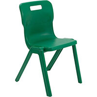 Titan One Piece Classroom Chair Size 6 460mm Seat Height (Ages: 14+ Years) Green T6-GN - 20 Year Guarantee