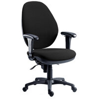 Syncrotek Super Large Ergonomic Task Operator Office Chair In Charcoal Fabric