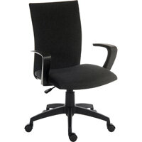 Work Fabric Modern Design High Back Home Office Chair In Black