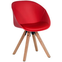Pyramid Padded Tub Visitors Chair In Red Set of 2