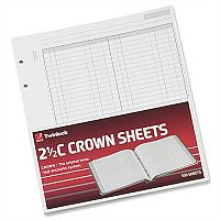 Twinlock 2.5C Crown Double Ledger Sheets Ref 75831 Pack 100 T75831
