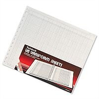 Twinlock V8 Variform 10 Column Cash Sheets Ref 75982 Pack 75 T75982