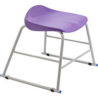 Titan High Backless Classroom Stool Size 2 395mm Seat Height (Ages: 4-6 Years) Polly Lipped Seat with Skid Base Purple T89-P - 5 Year Guarantee