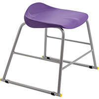 Titan High Backless Classroom Stool Size 3 445mm Seat Height (Ages: 6-8 Years) Polly Lipped Seat with Skid Base Purple T90-P - 5 Year Guarantee