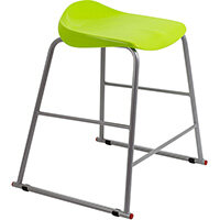 Titan High Backless Classroom Stool Size 4 560mm Seat Height (Ages: 8-11 Years) Polly Lipped Seat with Skid Base Lime T91-L - 5 Year Guarantee