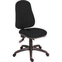 Ergo Comfort Fabric Ergonomic Posture Office Chair With Pump Up Lumbar Support In Black