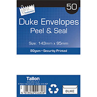 Tallon 50 Duke White Peel And Seal Envelopes Pack of 12 TA04680